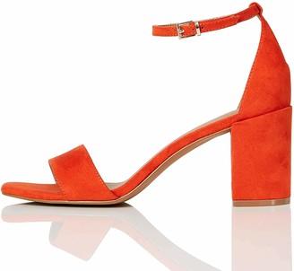 Find. Amazon Brand High Block Heel Sandal Ankle Strap