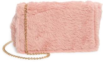Capelli New York Faux Fur Crossbody Bag