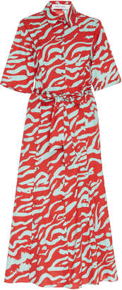Prabal Gurung Printed Cotton Midi Shirt Dress