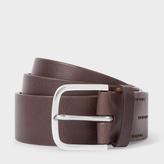 Men's Chocolate Brown Leather Belt