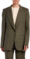 No.21 No. 21 Crystal-Embellished Wool Jacket