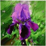 3drose dpp_1235_1 Iris Wall Clock, 10 by 10-Inch