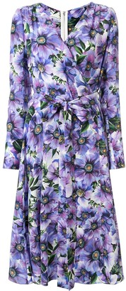 Dolce & Gabbana wrap V-neck floral printed dress