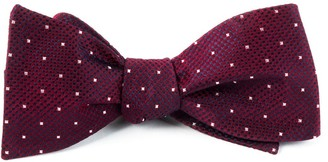 The Tie Bar Showtime Geo Burgundy Bow Tie