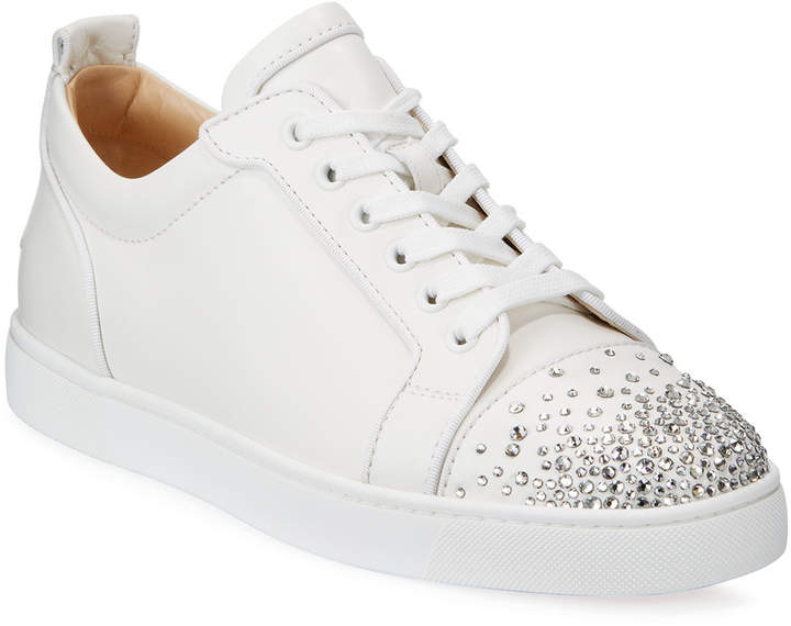 brand new cd550 0256f Men's Louis Junior Crystal-Embellished Leather Sneaker