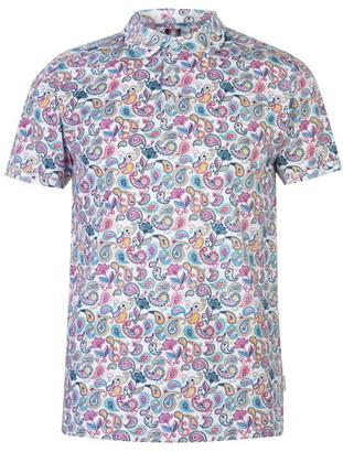 Soviet Paisley Print Polo Shirt Mens