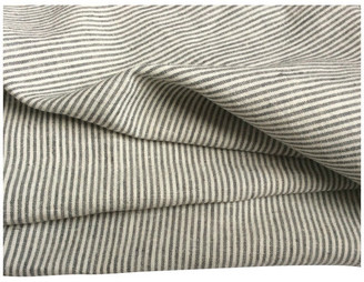 Superior Custom Linens Gray White Ticking Stripe Bed Top Sheet, Twin