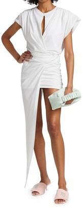 Asymmetric Cotton Mini Dress