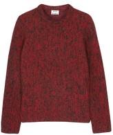 Acne Studios Red Mélange Wool Jumper