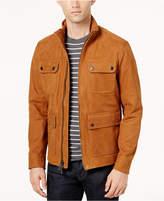 Michael Kors Men's Four-Pocket Leather Field Jacket
