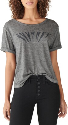 Lucky Brand Journey Cotton Blend Graphic Tee
