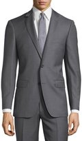 DKNY Slim-Fit Solid Wool Two-Piece Suit, Gray