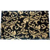 Asstd National Brand Gold Scroll Leaves Rectangle Doormat - 18X30