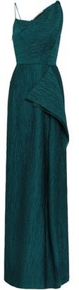 Roland Mouret Chorley Draped Crinkled Cotton-blend Gown