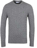 Lacoste Grey Marl Seamless Cable Knit Sweater