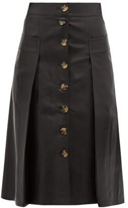 Dodo Bar Or Galina High-rise Leather Midi Skirt - Womens - Black