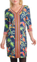 Gretchen Scott Navy Bordertown Dress