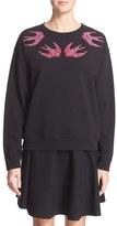 McQ by Alexander McQueen Women's Bird Embroidered Sweatshirt