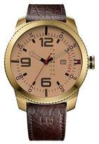 Tommy Hilfiger 1791015 Men's Gold Tone Analog Watch With Brown Dial