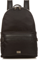 Dolce & Gabbana Leather-trimmed nylon backpack