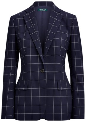 Ralph Lauren Check-Print Wool-Blend Blazer