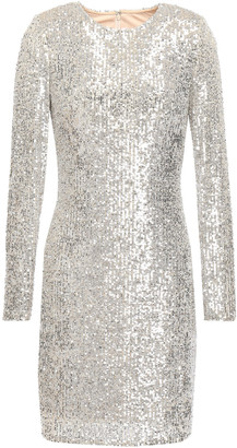 Naeem Khan Sequined Stretch-tulle Mini Dress