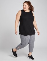 Lane Bryant LIVI Capri Power Legging - Marled With Strappy Hem