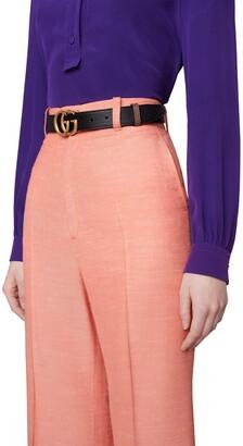 Gucci GG Marmont reversible thin belt