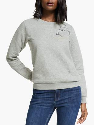 Nümph Minahil Embroidered Sweatshirt, Grey