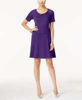 NY Collection Petite Ponte Fit & Flare Dress