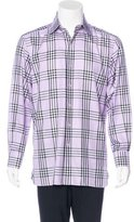 Tom Ford French Cuff Plaid Shirt
