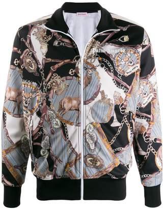 Palm Angels chain print bomber jacket