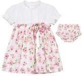 Emile et Rose Kathryn White and Floral Cotton Dress