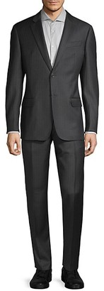 Armani Collezioni Pinstriped G-Line Fit Wool Suit