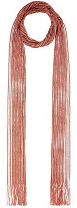 Chloé Metallic Fringed Crochet-knit Scarf