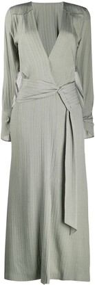 Roland Mouret Silk Wrap Maxi Dress