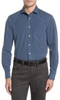 Luciano Barbera Men's Classic Fit Diamond Print Sport Shirt