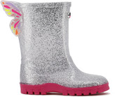 Sophia Webster Glitter Welly Butterfly Rain Boots, Baby/Toddler