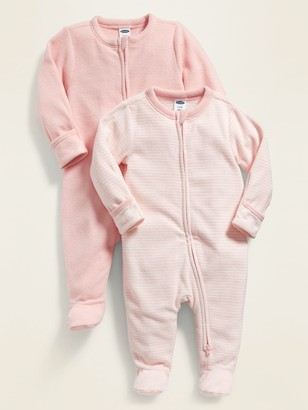 Old Navy 2-Pack Micro Fleece Footie Pajama One-Piece for Baby