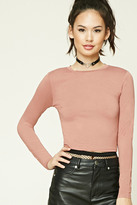 Forever 21 FOREVER 21+ Cropped Crew Neck Tee