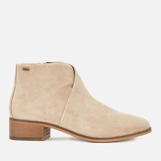 Barbour Women's Caryn Suede Heeled Ankle Boots - Sand