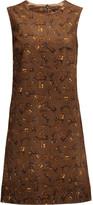 Dolce & Gabbana Printed cotton-corduroy mini dress