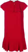 RED Valentino frilled cape dress - women - Acetate/Viscose - 38