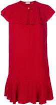 RED Valentino frilled cape dress - women - Acetate/Viscose - 42