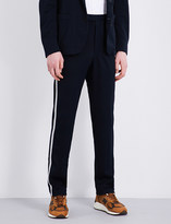 Camoshita Stripe-print piqué trousers