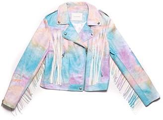 Blank NYC Kids Go Loco/Tie-Dye No Fringes Jacket (Big Kids) (Tie-Dye/Multicolor) Girl's Clothing