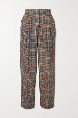 See by Chloe Checked Tweed Tapered Pants - Gray