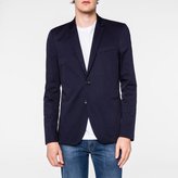 Paul Smith Men's Slim-Fit Navy Stretch-Cotton Blazer