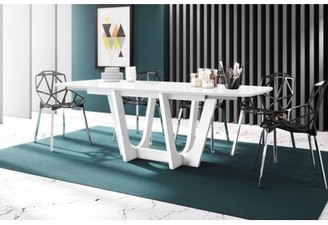 Orren Ellis Urbino Dining Table With Extension Table Top Color: Gray