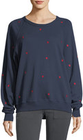 The Great The College Sweatshirt w/ Mini Heart Embroidery